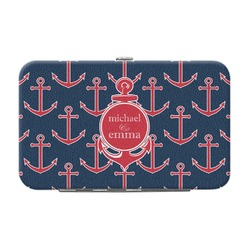 All Anchors Genuine Leather Small Framed Wallet (Personalized)