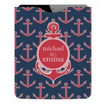 All Anchors Genuine Leather iPad Sleeve (Personalized)