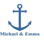 All Anchors Glitter Sticker Decal - Custom Sized (Personalized)