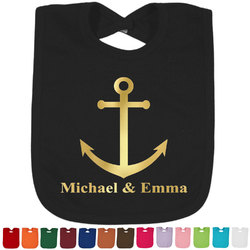 All Anchors Foil Baby Bibs (Select Foil Color) (Personalized)