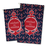 All Anchors Golf Towel - Full Print w/ Couple's Names