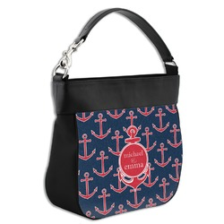 All Anchors Hobo Purse w/ Genuine Leather Trim (Personalized)