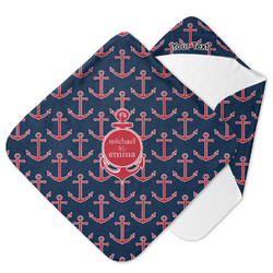 All Anchors Hooded Baby Towel (Personalized)