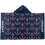 All Anchors Kids Hooded Towel (Personalized)
