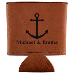 All Anchors Leatherette Can Sleeve (Personalized)