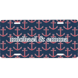 All Anchors Front License Plate (Personalized)