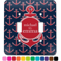 All Anchors Light Switch Cover (2 Toggle Plate) (Personalized)