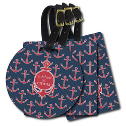 All Anchors Plastic Luggage Tags (Personalized)