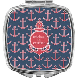 All Anchors Compact Makeup Mirror (Personalized)