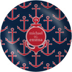 """All Anchors Melamine Plate - 8"""" (Personalized)"""