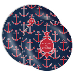 All Anchors Melamine Plate (Personalized)