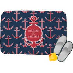 All Anchors Memory Foam Bath Mat (Personalized)