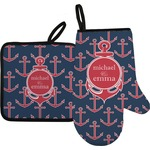 All Anchors Oven Mitt & Pot Holder (Personalized)
