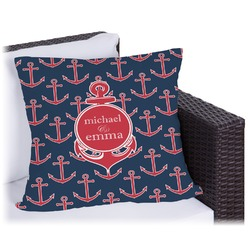 All Anchors Outdoor Pillow (Personalized)