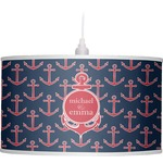 All Anchors Drum Pendant Lamp (Personalized)