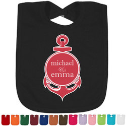 All Anchors Baby Bib - 14 Bib Colors (Personalized)