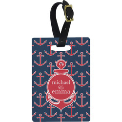 All Anchors Rectangular Luggage Tag (Personalized)