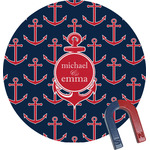 All Anchors Round Magnet (Personalized)