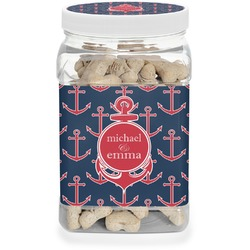 All Anchors Pet Treat Jar (Personalized)