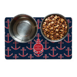 All Anchors Dog Food Mat (Personalized)