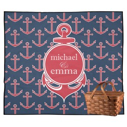 All Anchors Outdoor Picnic Blanket (Personalized)