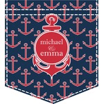All Anchors Iron On Faux Pocket (Personalized)