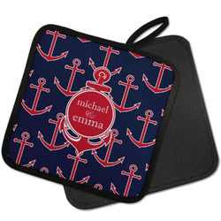 All Anchors Pot Holder w/ Couple's Names