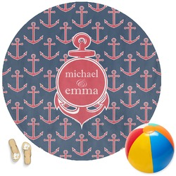 All Anchors Round Beach Towel (Personalized)