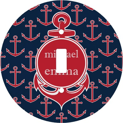 All Anchors Round Light Switch Cover (Personalized)