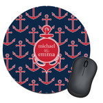 All Anchors Round Mouse Pad (Personalized)