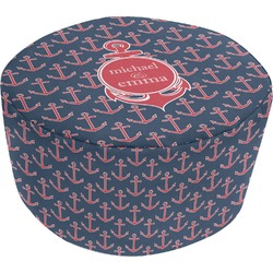 All Anchors Round Pouf Ottoman (Personalized)
