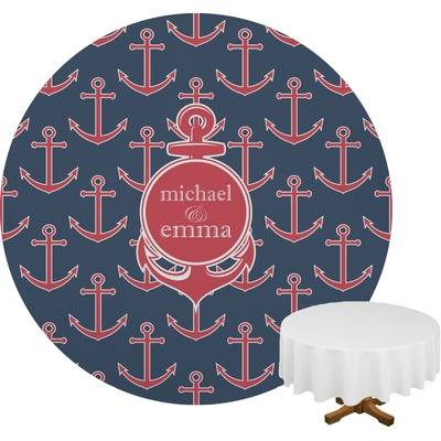 All Anchors Round Tablecloth (Personalized)