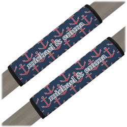 All Anchors Seat Belt Covers (Set of 2) (Personalized)