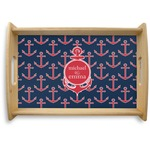 All Anchors Natural Wooden Tray (Personalized)