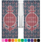 All Anchors Sheer Curtains (Personalized)