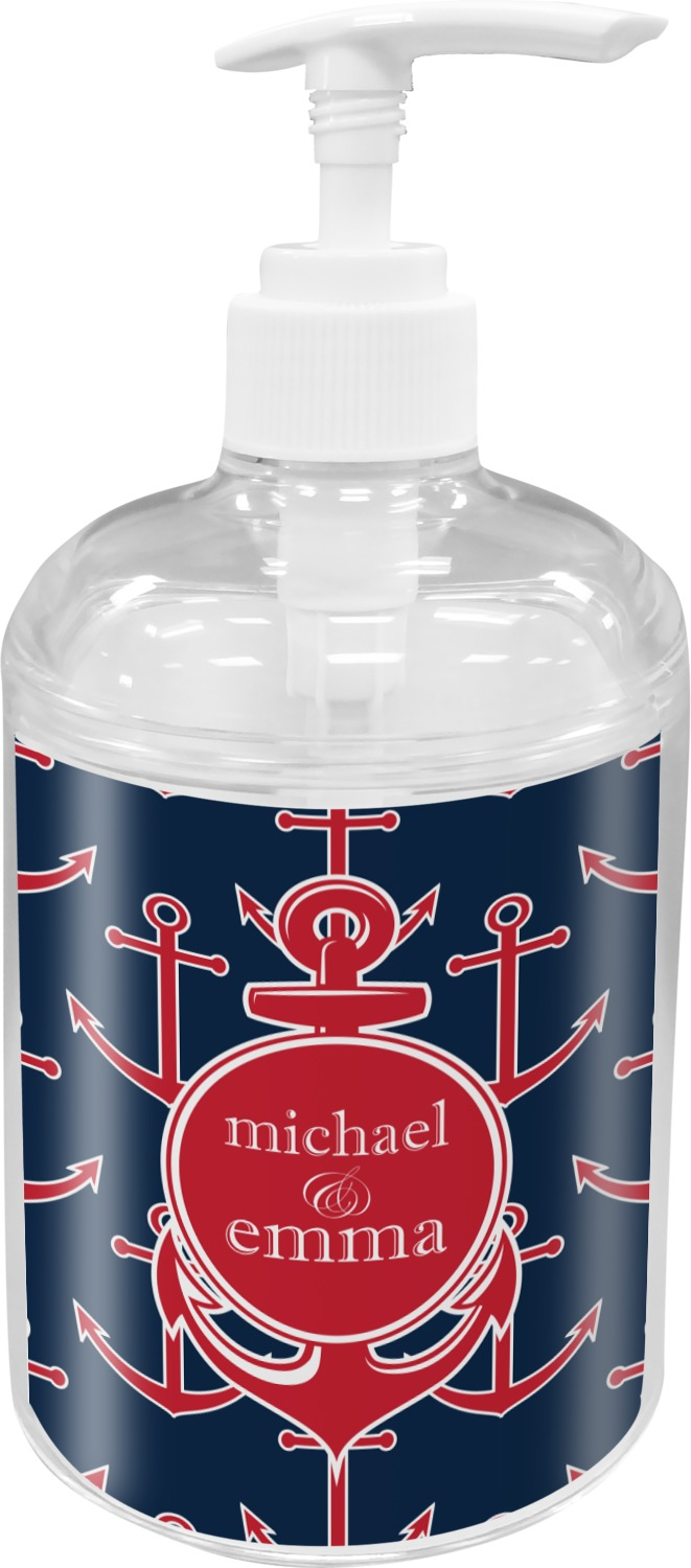 All Anchors Soap Lotion Dispenser Personalized: soap lotion dispenser set