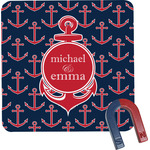 All Anchors Square Fridge Magnet (Personalized)