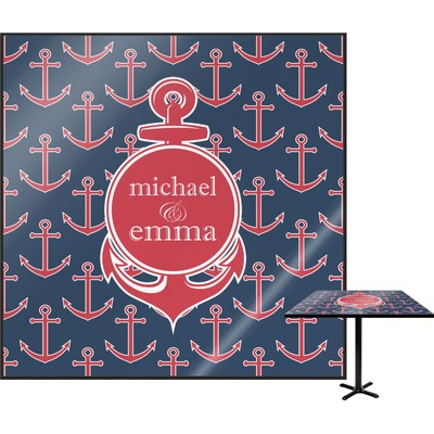 All Anchors Square Table Top (Personalized)