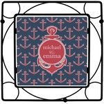 All Anchors Square Trivet (Personalized)