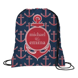 All Anchors Drawstring Backpack (Personalized)