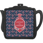 All Anchors Teapot Trivet (Personalized)