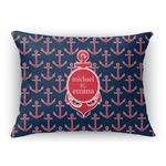 All Anchors Rectangular Throw Pillow Case (Personalized)