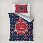 All Anchors Toddler Bedding w/ Couple's Names
