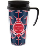All Anchors Travel Mug with Handle (Personalized)