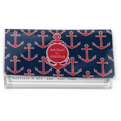 All Anchors Vinyl Checkbook Cover (Personalized)
