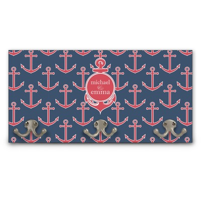 All Anchors Wall Mounted Coat Rack (Personalized)