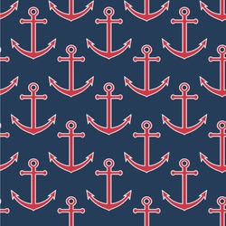 """All Anchors Wallpaper & Surface Covering (Peel & Stick 24""""x 24"""" Sample)"""