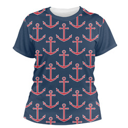 All Anchors Women's Crew T-Shirt (Personalized)