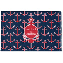 All Anchors Woven Mat (Personalized)