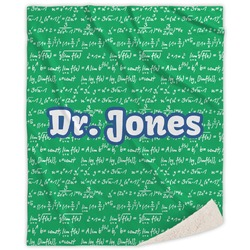 Equations Sherpa Throw Blanket (Personalized)